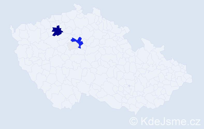 Příjmení: 'Hejzlová', počet výskytů 10 v celé ČR