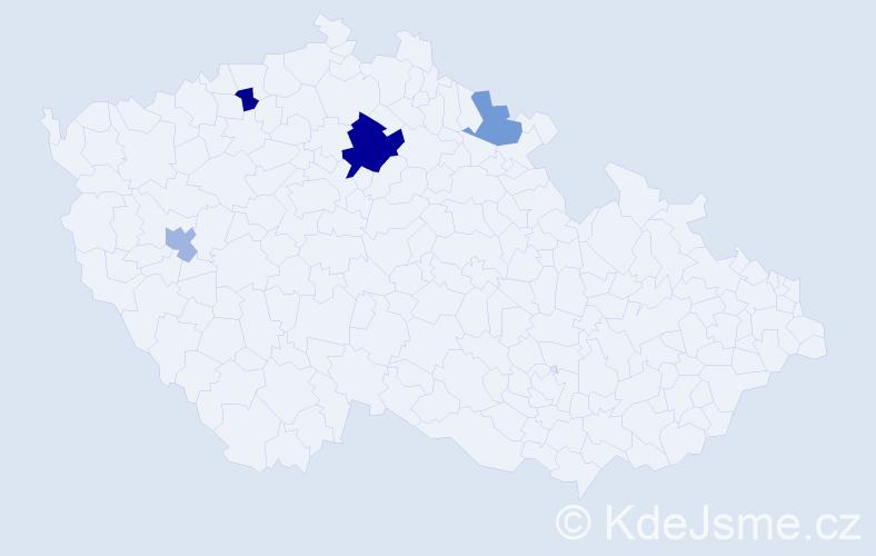 Příjmení: 'Grünertová', počet výskytů 7 v celé ČR