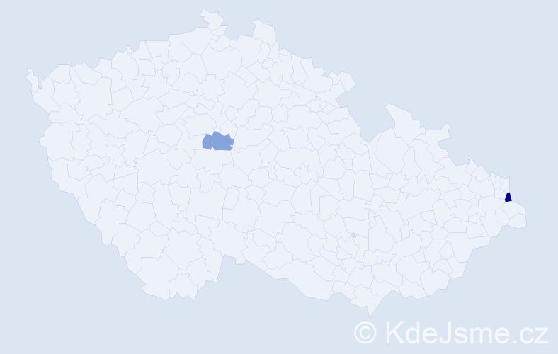 Příjmení: 'Kopećová', počet výskytů 3 v celé ČR