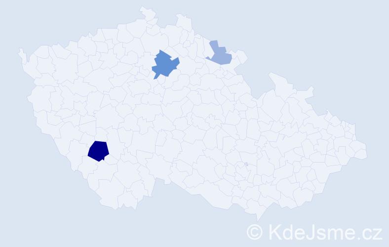 Příjmení: 'Grünert', počet výskytů 8 v celé ČR