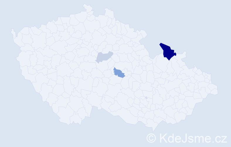 Příjmení: 'Danilková', počet výskytů 9 v celé ČR