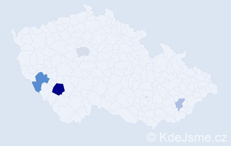 Příjmení: 'Greillová', počet výskytů 10 v celé ČR