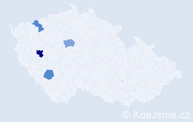Příjmení: 'Čmelinská', počet výskytů 16 v celé ČR