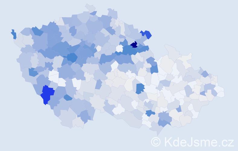 Příjmení: 'Holeček', počet výskytů 2746 v celé ČR