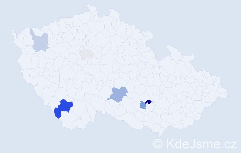 Příjmení: 'Hakobyan', počet výskytů 12 v celé ČR