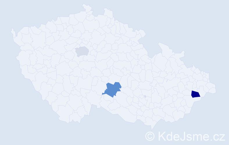 Příjmení: 'Karstová', počet výskytů 3 v celé ČR