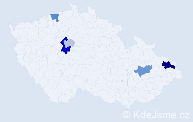 Příjmení: 'Láni', počet výskytů 13 v celé ČR
