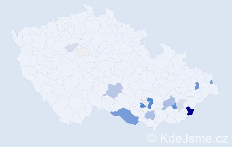 Příjmení: 'Debef', počet výskytů 33 v celé ČR