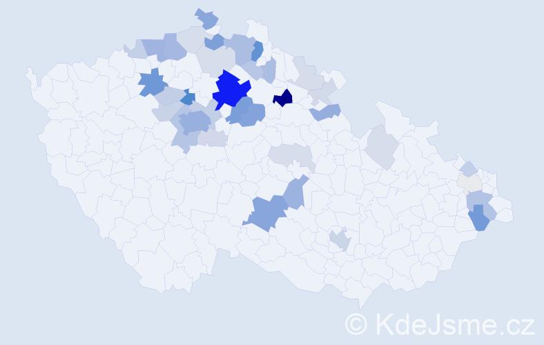 Příjmení: 'Kolátorová', počet výskytů 128 v celé ČR