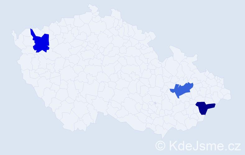 Příjmení: 'Ilnycka', počet výskytů 3 v celé ČR