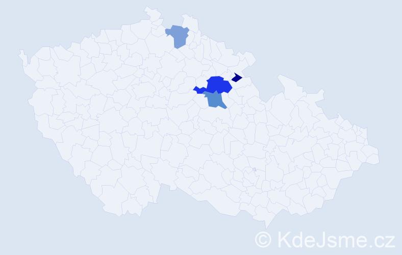 Příjmení: 'Isach', počet výskytů 11 v celé ČR