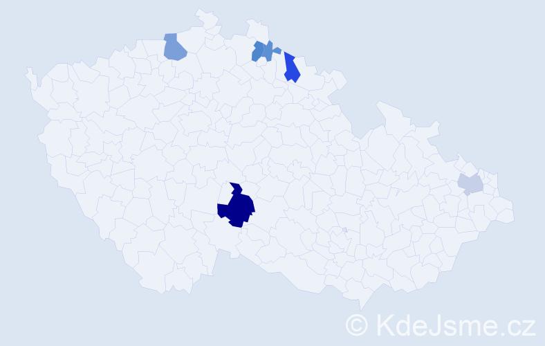 Příjmení: 'Fajstaverová', počet výskytů 16 v celé ČR