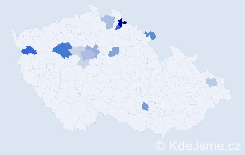 Příjmení: 'Cónová', počet výskytů 35 v celé ČR