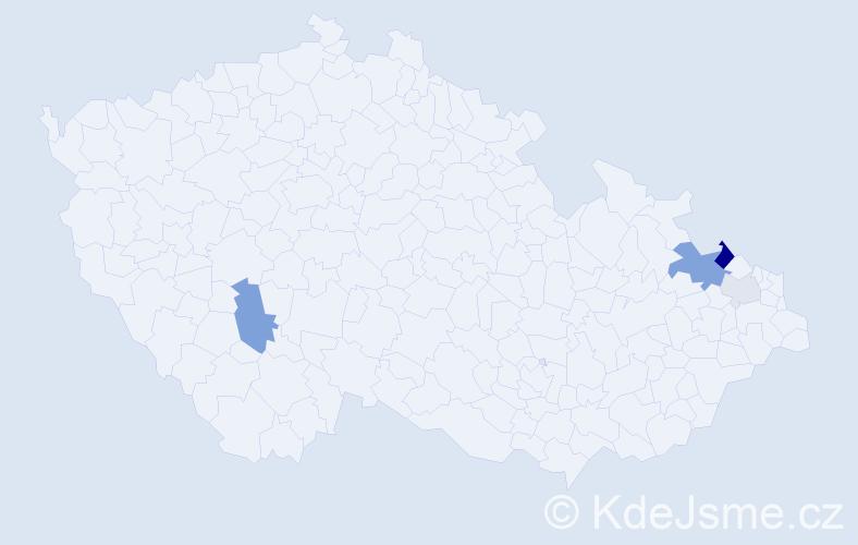 Příjmení: 'Havranková', počet výskytů 9 v celé ČR