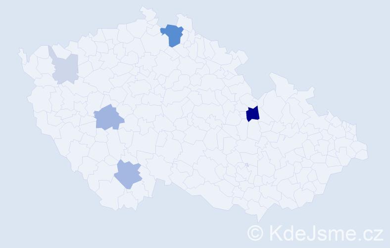 Příjmení: 'Fiebiger', počet výskytů 18 v celé ČR