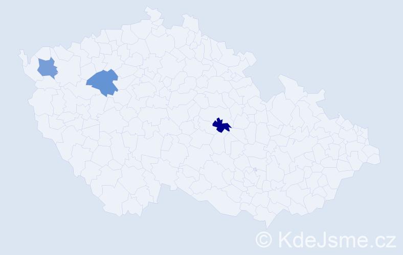 Příjmení: 'Čubyrko', počet výskytů 3 v celé ČR