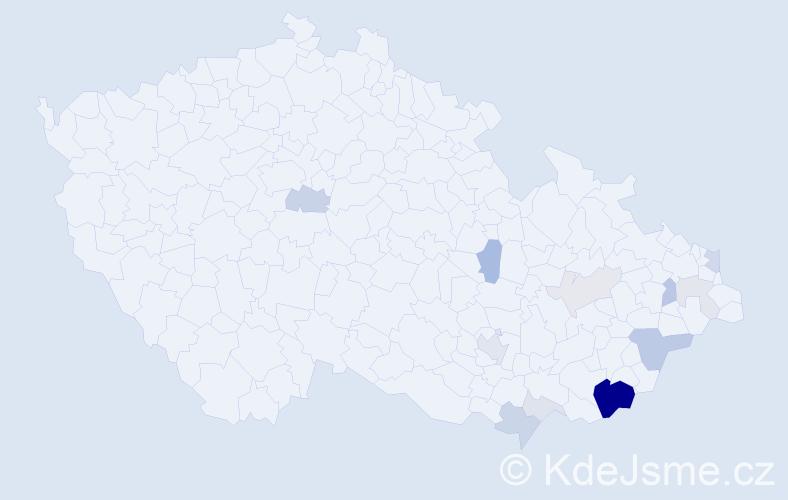 Příjmení: 'Cmolová', počet výskytů 42 v celé ČR