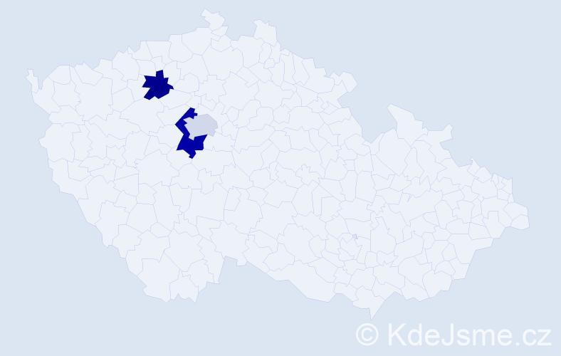 Příjmení: 'Čechuty', počet výskytů 4 v celé ČR
