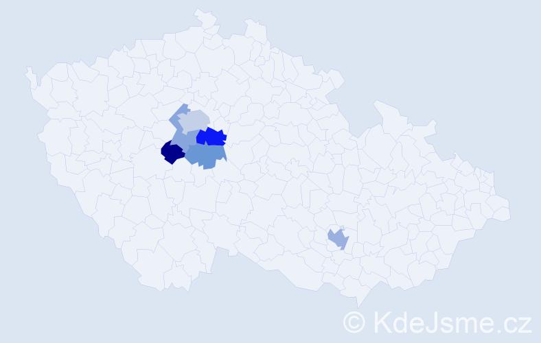 Příjmení: 'Erbeková', počet výskytů 10 v celé ČR