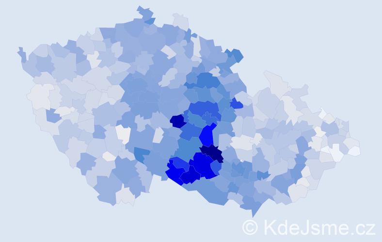 Příjmení: 'Doležal', počet výskytů 8825 v celé ČR