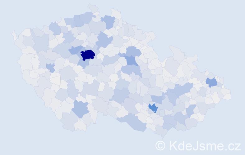 Příjmení: 'Kučera', počet výskytů 15154 v celé ČR