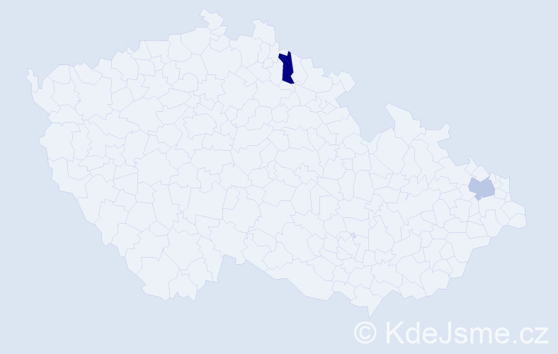 Příjmení: 'Ambrúžová', počet výskytů 2 v celé ČR