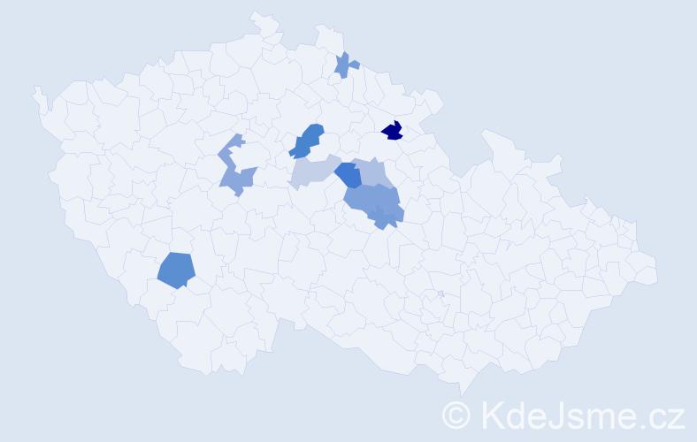 Příjmení: 'Čenovská', počet výskytů 23 v celé ČR