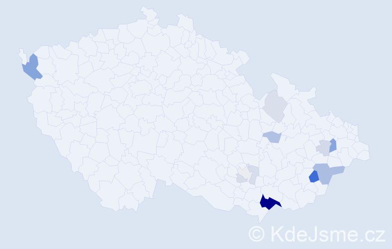 Příjmení: 'Forch', počet výskytů 38 v celé ČR