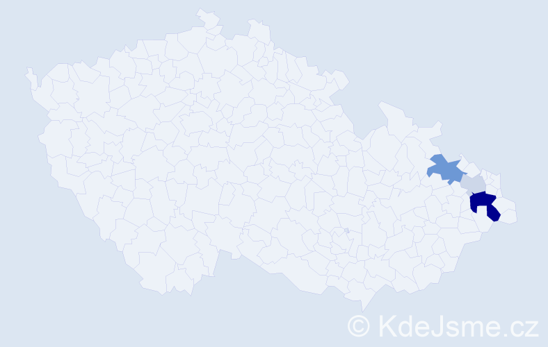 Příjmení: 'Jodlovský', počet výskytů 9 v celé ČR