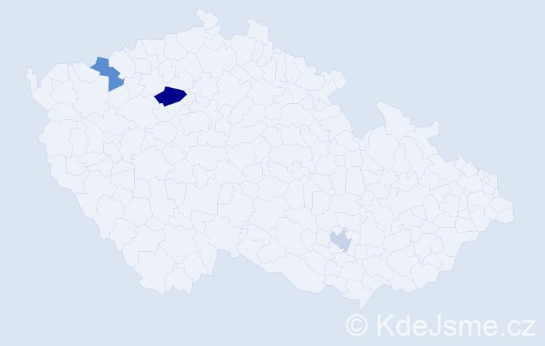 Příjmení: 'Alscher', počet výskytů 4 v celé ČR