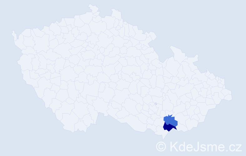 Příjmení: 'Čečátko', počet výskytů 3 v celé ČR