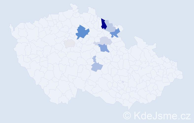 Příjmení: 'Feistauer', počet výskytů 20 v celé ČR