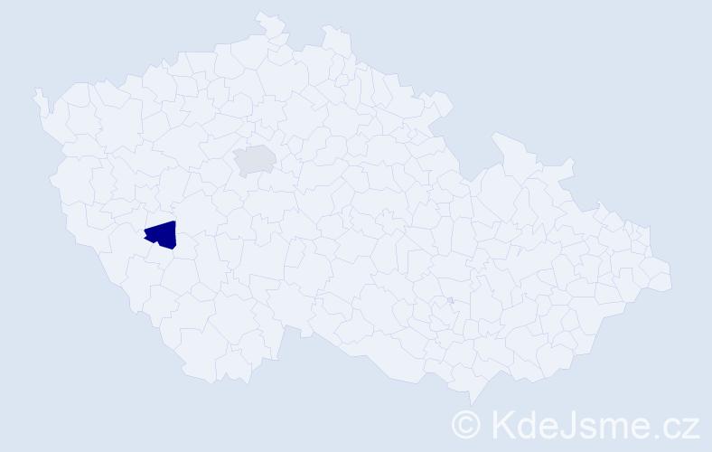 Příjmení: 'Františka', počet výskytů 3 v celé ČR