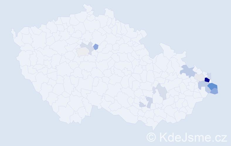 Příjmení: 'Jurczek', počet výskytů 36 v celé ČR