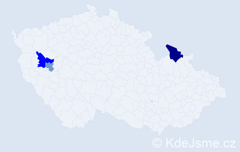 Příjmení: 'Alexovský', počet výskytů 3 v celé ČR