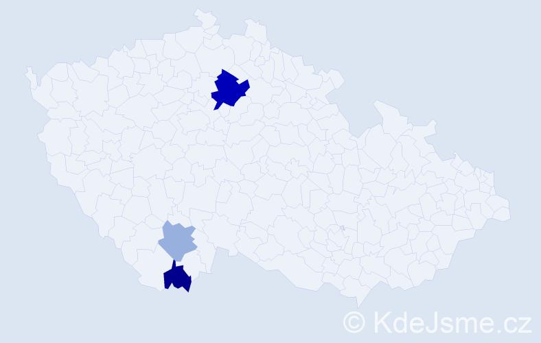 Příjmení: 'Juršťáková', počet výskytů 6 v celé ČR