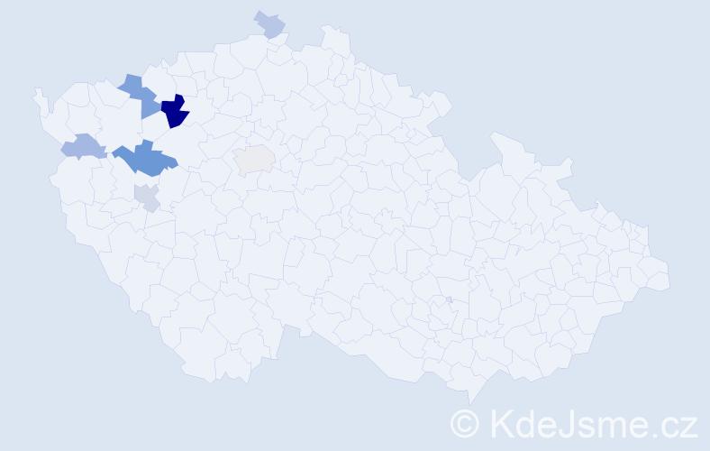 Příjmení: 'Enders', počet výskytů 18 v celé ČR
