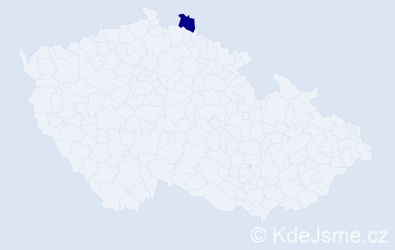 Příjmení: 'Hańdereková', počet výskytů 1 v celé ČR