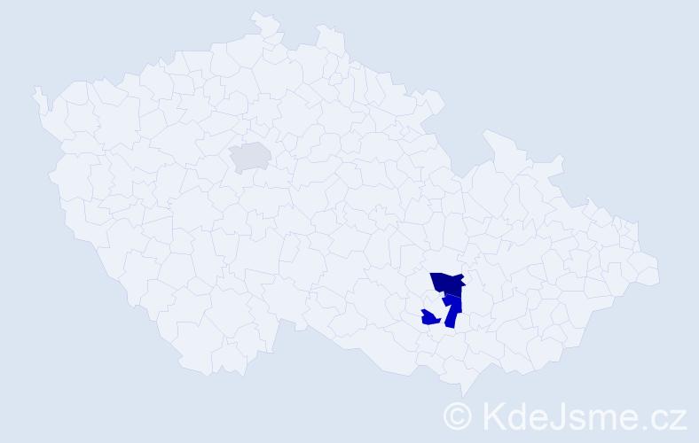 Příjmení: 'Konštanský', počet výskytů 5 v celé ČR