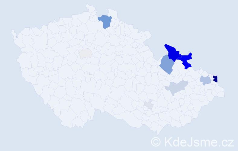 Příjmení: 'Iliadis', počet výskytů 28 v celé ČR
