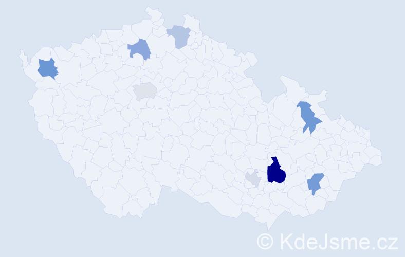 Příjmení: 'Koleničová', počet výskytů 14 v celé ČR