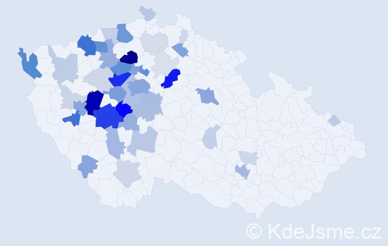 Příjmení: 'Hlinovská', počet výskytů 196 v celé ČR