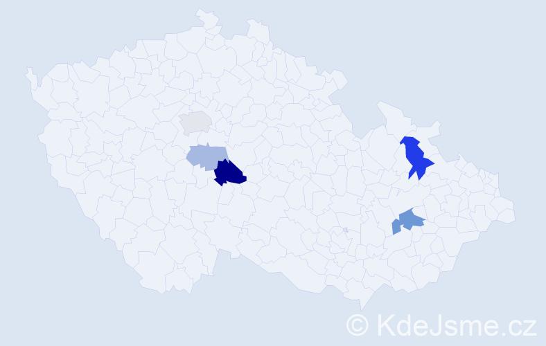 Příjmení: 'Lempochner', počet výskytů 12 v celé ČR