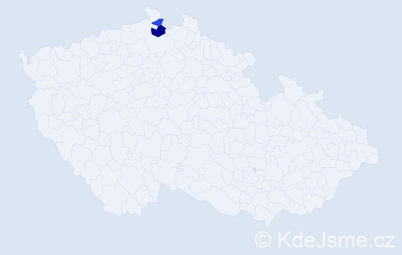 Příjmení: 'Debären', počet výskytů 3 v celé ČR