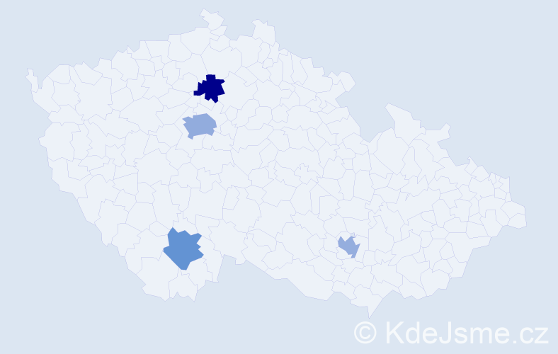 Příjmení: 'Čehajić', počet výskytů 6 v celé ČR