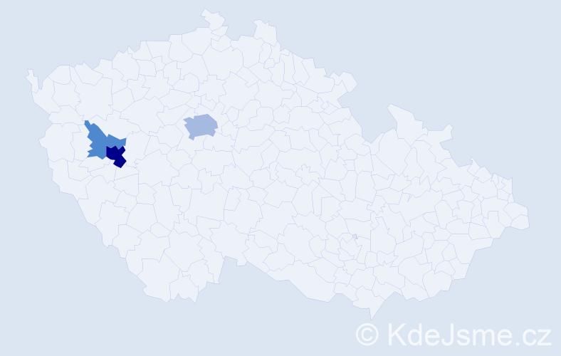 Příjmení: 'Elhotová', počet výskytů 10 v celé ČR