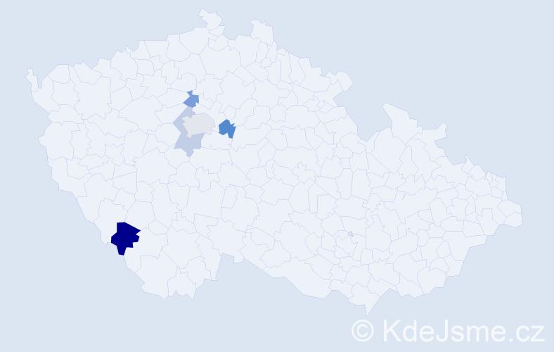 Příjmení: 'Brautfergerová', počet výskytů 7 v celé ČR