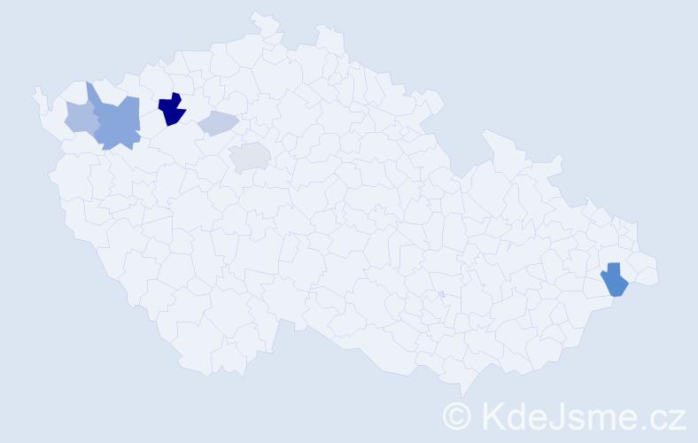 Příjmení: 'Irmanová', počet výskytů 28 v celé ČR