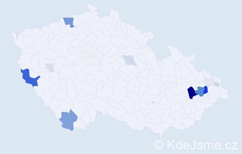Příjmení: 'Erlová', počet výskytů 31 v celé ČR