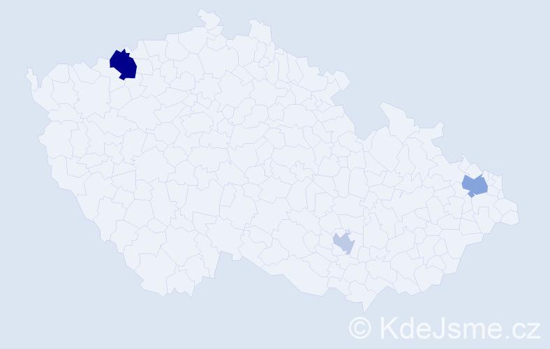 Příjmení: 'Chodacki', počet výskytů 6 v celé ČR